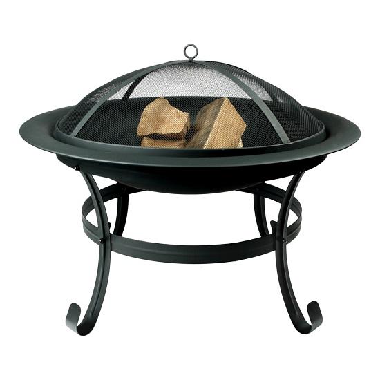 feuerkorb mit funkenschutz feuerschale feuer schale garten terrasse ebay. Black Bedroom Furniture Sets. Home Design Ideas