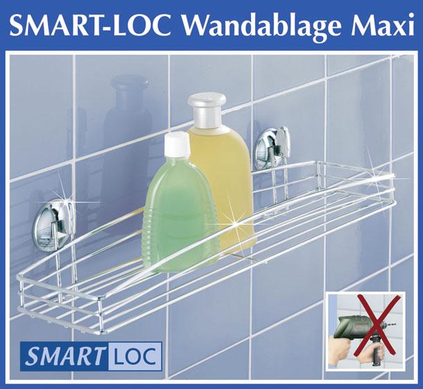 wenko smart loc wandablage maxi badregal badablage. Black Bedroom Furniture Sets. Home Design Ideas